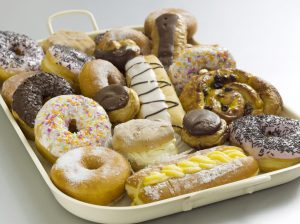 Tray of Doughnuts
