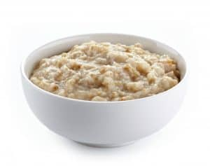 Bowl of oat porridge