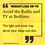 Weight Loss Tip: Sleep Without Radio and TV