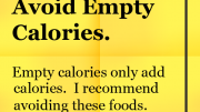 Weight Loss Tips - Empty Calories