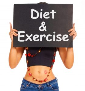 Diet And Exercise Sign