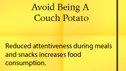 Weight Loss Tip: Coach Potato
