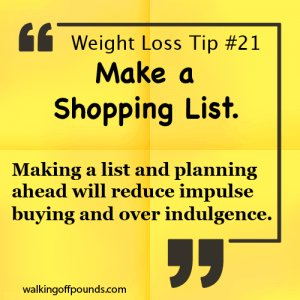 Weight Loss Tip - Make A Shopping List