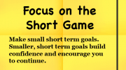 Weight Loss Tip - Focus on the Short Game
