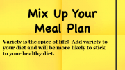 Weight Loss Tip - Mix Up Your Meal Plan