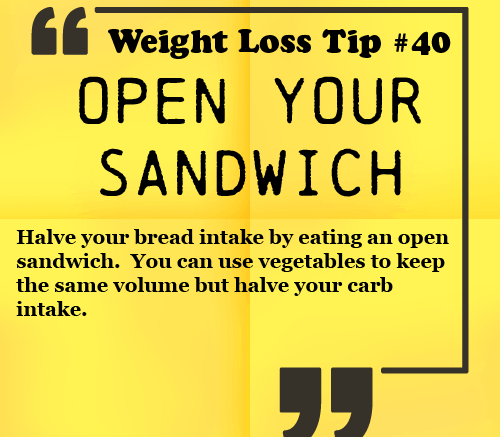 Weight Loss Tip - Open your sandwich