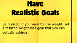 Weight Loss Tip 46 - Have Realistic Goals