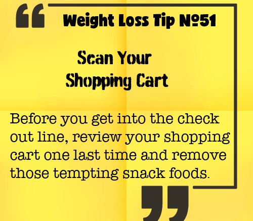 Weight Loss Tip 51 - Scan Your Shopping Cart