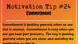 Motivation Tip 24 - commitment