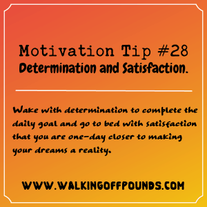 Motivation Tip 28 - Determination and Satisfaction