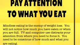 Weight Loss Tip 57 - Pay Attention to What You Eat