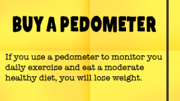 Weight Loss Tip 67 - BUY A PEDOMETER