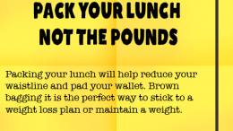Weight Loss Tip 77 - Pack your lunch not the pounds
