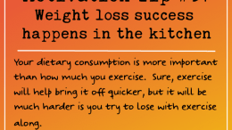 Motivation Tip 37 -Weight loss success happens in the kitchen