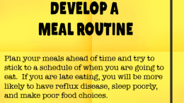 Weight Loss Tip 76 - Develop a Meal Routine