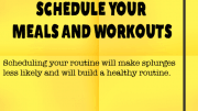 Weight Loss Tip 79 - Schedule Your Meals and Workouts