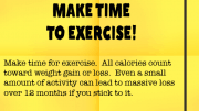 Weight loss tip 86 - Make time to exercise