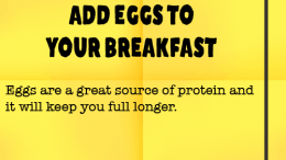 Weight loss tip 88 - Add eggs to your breakfast
