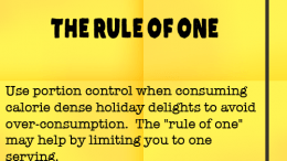 Weight Loss Tip 90 - The Rule of One