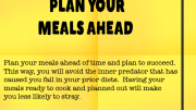 Weight Loss Tip 92 - Plan Your Meals Ahead