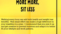 Weight Loss Tip 98 - Sit Less and Move More