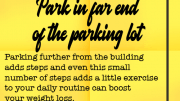 Weight Loss Tip 110 - Park in far end of the parking lot