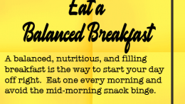 Weight Loss Tip 114 - Eat a Balanced Breakfast