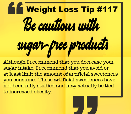 Weight loss tip 117 - Be cautious with sugar-free products