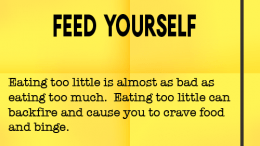 Weight loss tip 119 - Feed Yourself
