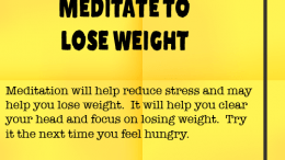Weight Loss Tip 93 - Meditate to Lose weight