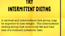 Weight Loss Tip 94 - Try Intermittent Dieting