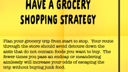 Weight Loss Tip 99 - Have a grocery shopping strategy