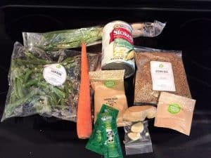 HelloFresh Bag Contents