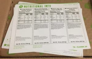 HelloFresh Nutrition and Recipe Cards
