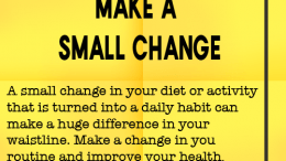Weight loss tip 127 - Make a small change