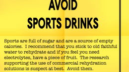 Weight Loss Tip 132 - Avoid Sports Drinks