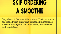 Weight loss tip 133 - Skip ordering a smoothie