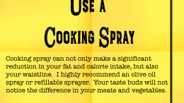Weight Loss Tip 134 - Use a Cooking Spray