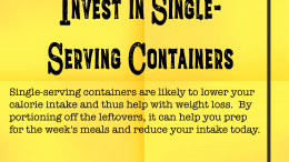 Weight Loss Tip 135 - Invest in single-serving containers