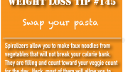 Weight Loss Tip 145 - Swap your pasta