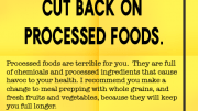 Weight loss Tip 121 - Cut back on processed foods