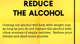 Weight loss tip 123 - Reduce the alcohol