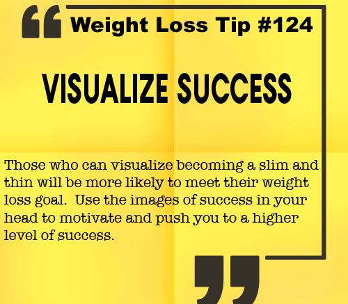 Weight loss tip 124 - Visualize Success