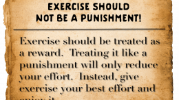 Weight loss tip 143 - Exercise should not be a punishment