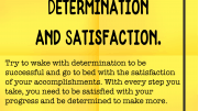 Weight loss tip 157 - Determination and Satisfaction