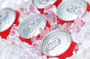 Soda Cans in Ice