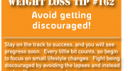 Weight loss tip 162 - Avoid getting discouraged