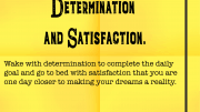 Weight Loss Tip 180 - Determination and Satisfaction