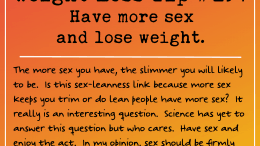 Weight Loss Tip 194 - Have sex and lose weight