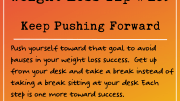 Weight Loss Tip 189 - Keep Pushing Forward